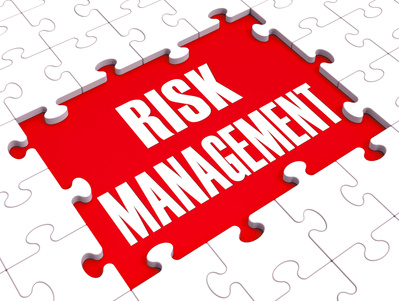 Risk Management Shows Identifying, Evaluating And Treating Risks